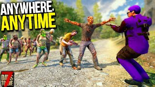 Slicing Through Surprise Hordes! ( + New Setup Reveal)- 7 Days to Die: Anywhere, Anytime! - Day 10