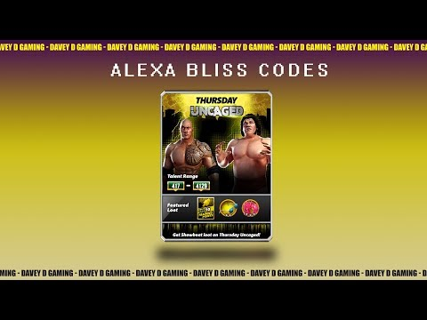 Alexa Bliss Codes- LIVE STREAM LATER TODAY