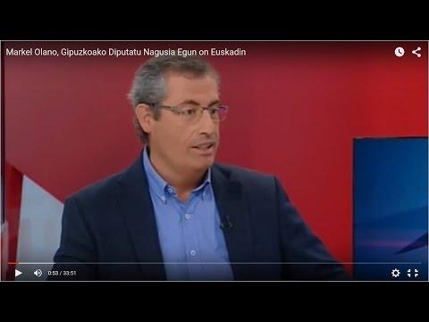 Markel Olano, Gipuzkoako Diputatu Nagusia, elkarrizketa / Entrevista al Diputado General de Gipuzkoa