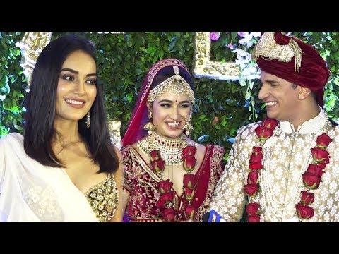 Surbhi Jyoti HOT In Saree At Prince Narula And Yuvika Chaudhary Wedding thumbnail