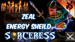Zeal Energy Shield Sorceress Build - Diablo 2