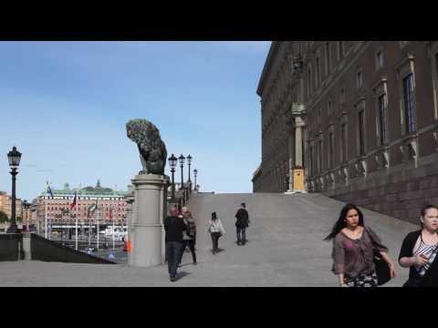 Sweden, Stockholm, Old Town, walking from Tyska Brinken to Riddarholmsbron