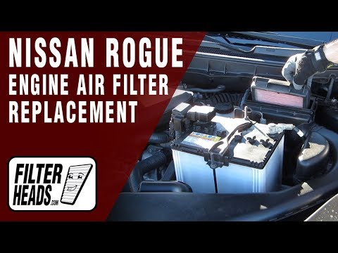 How To Replace Engine Air Filter L4 1.6L Nissan Rogue