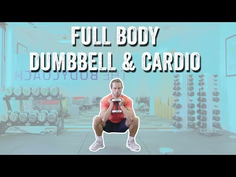 15 MINUTE FULL BODY DUMBBELL & CARDIO WORKOUT | The Body Coach TV