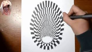 How to Draw a  Hole 3D painting and Drawing-2 By Ria 3d Paintings