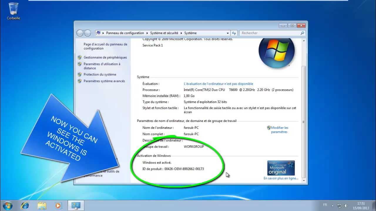 Tutorial of how to remove windows 7 build 7601 this copy isn't.