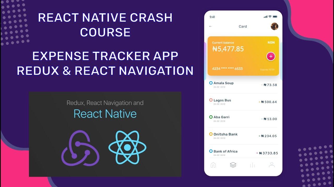 Expense Tracker React Native App - React Navigation & Redux