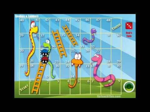 Snakes And Ladders Game - A Printable Version And A Video Game Version