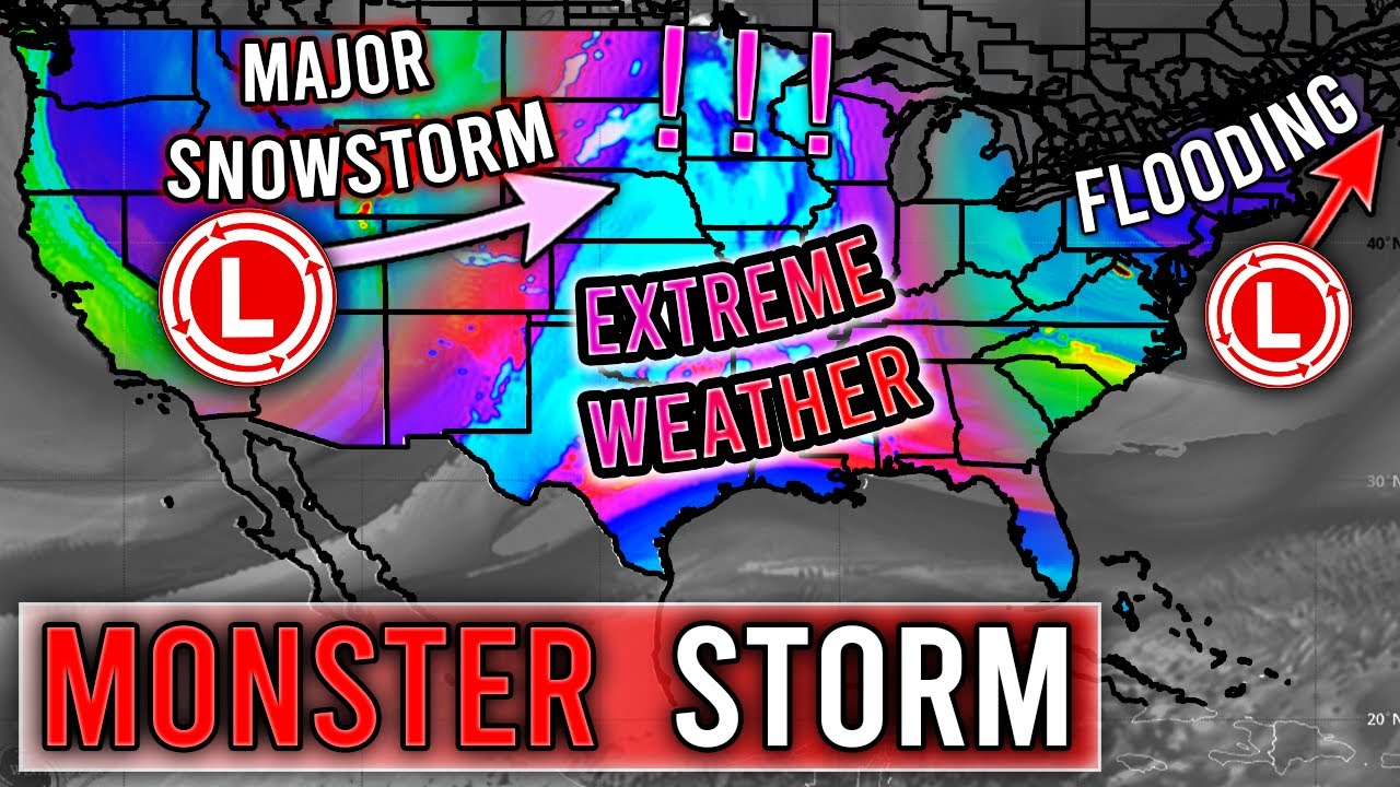 """Another MONSTER Storm... MAJOR Snowstorm 10"""" +, Potential Flooding, ETC"""