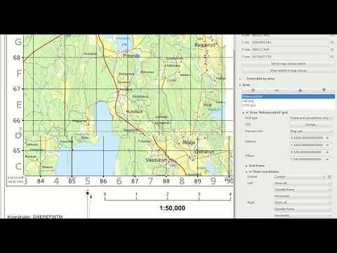 Create a custom reference grid in QGIS composer | Kartoza