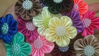 Flores simples de cetim