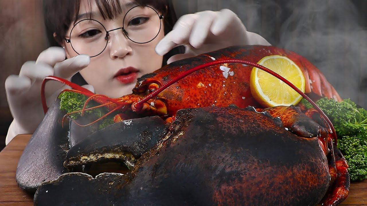 행복한 대왕 랍스터 먹방🦞 GIANT LOBSTER MUKBANG | EATING SOUNDS