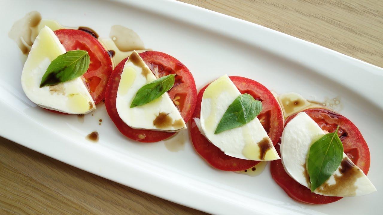 食譜 】番茄莫札瑞拉起司 Mozzarella cheese tomato salad - YouTube