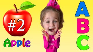 ABC alphabet with cartoons and words - ABC Song #2