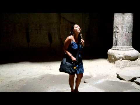 Performing in Geghard Monestary, Armenia - August 13, 2011