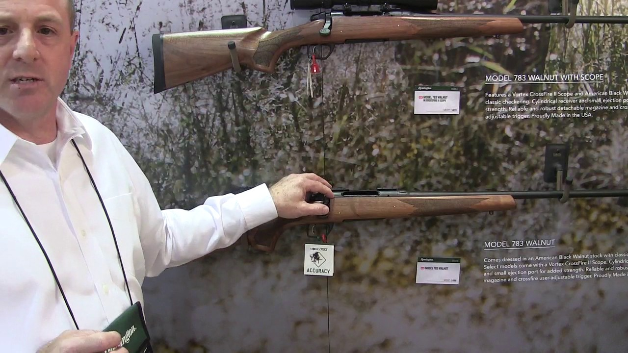 New Remington 783 Walnut at the 2017 SHOT Show
