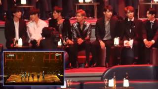 GOT7 Reaction to BTS [MAMA] 2016 ♫♫♫ HD Fancam