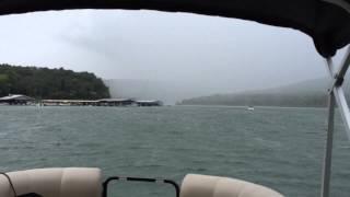 A little rain on the way to Barnacle Bills Marina
