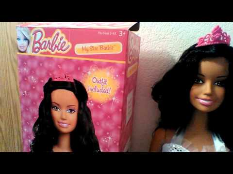 My New Life Size Barbie Afrian American Doll Youtube