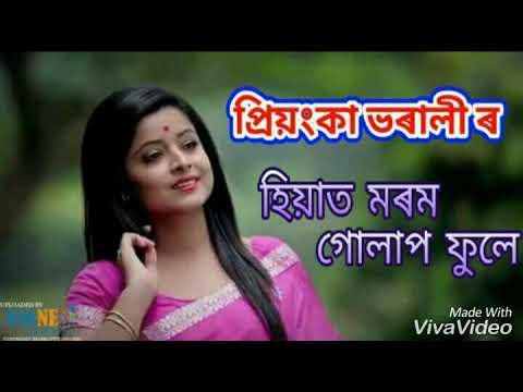 Hiyat Morom Gulap - Priyanka Bharali ||Lyrical Video Song||