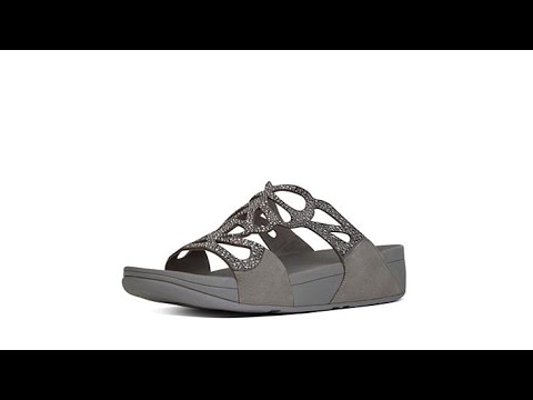 774a06f1d FitFlop Bumble Crystal Slide Sandal - YouTube