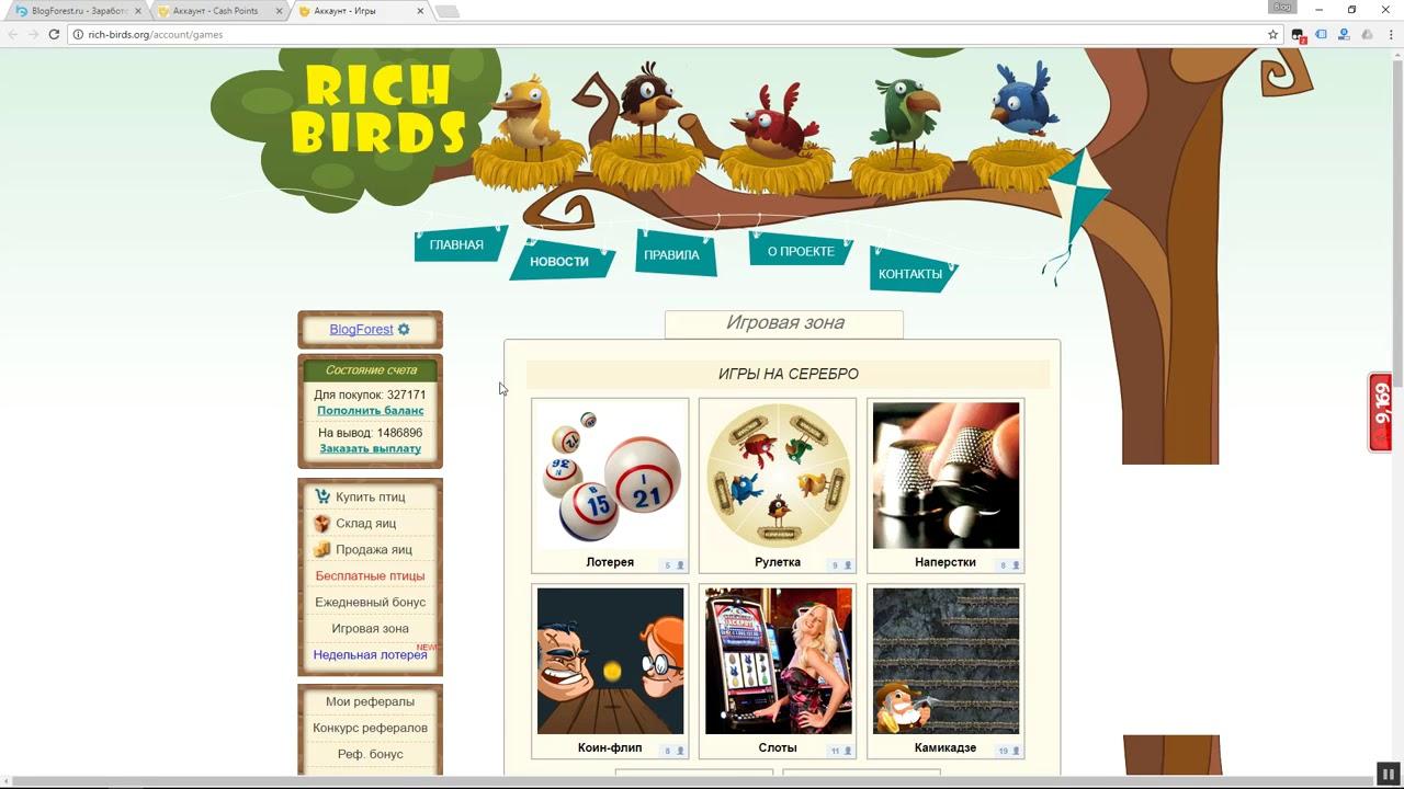 заработок в интернете птиц