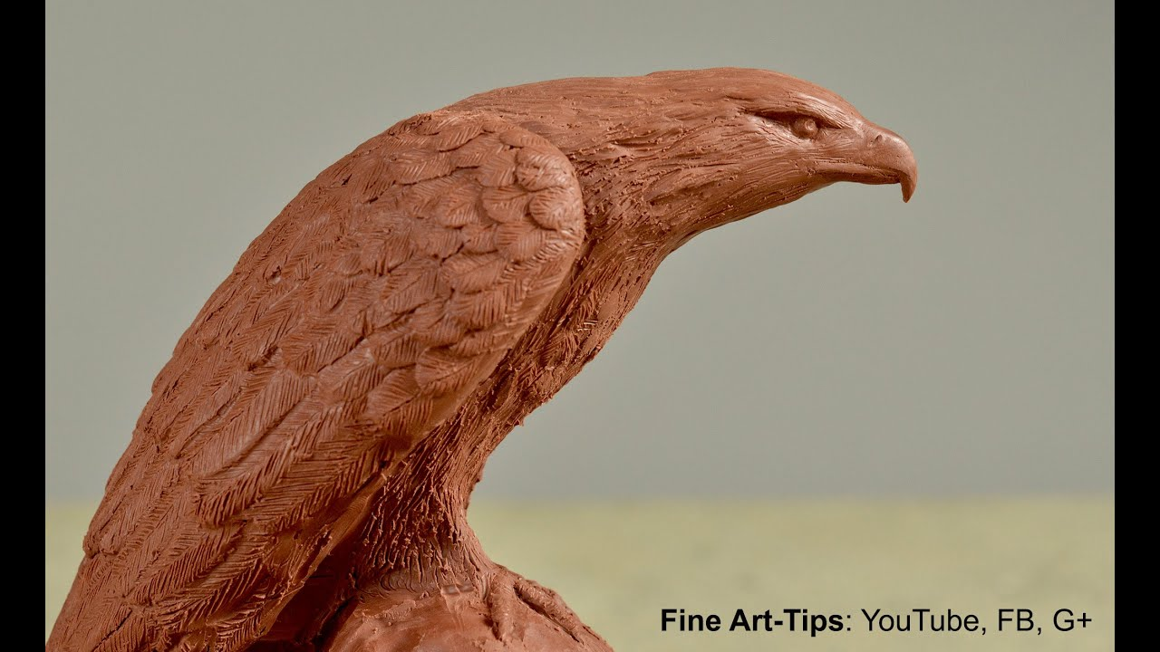 How to sculpt an eagle how to model an eagle in clay for How to make a 3d bird sculpture