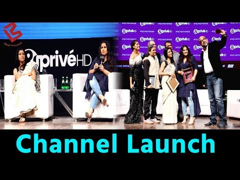 Vidya Balan, Konkona Sen Sharma & Vishal Bhardwaj At Launch Of & Prive HD Channel