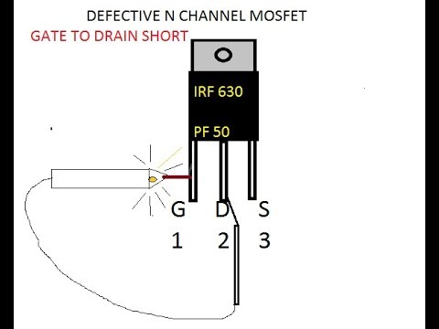 checking MOSFET  very simple  using continuity tester how to check mosfet
