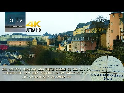 Luxembourg panorama: Old Quarters & Fortifications-Unesco heritage