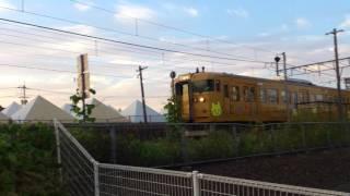 妹尾駅を出発した児島行き吉備の国おこし号列車
