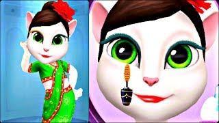 ГОВОРЯЩАЯ АНДЖЕЛА Новый макияж и Наряд Анжелы - Индийское Сари. Игровой мультик