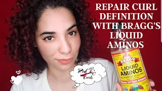 Repair Curly Hair With Bragg's Liquid Amino Acids (Gentle Weekly Protein Treatment)