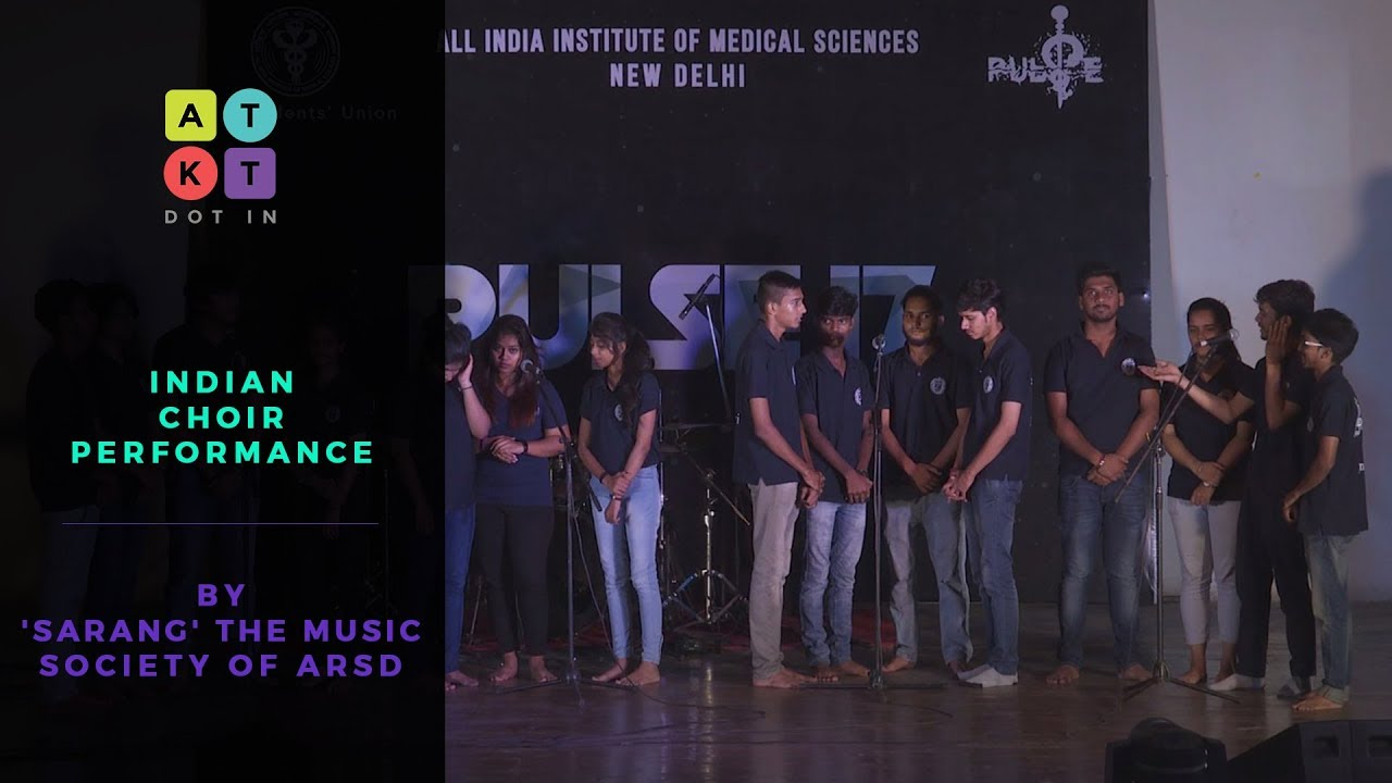 Indian Choir Performance by 'Sarang' the Music Society of ARSD | Pulse 2017