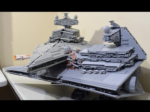 Lego Star Destroyer Collision MOC from Rogue  One!