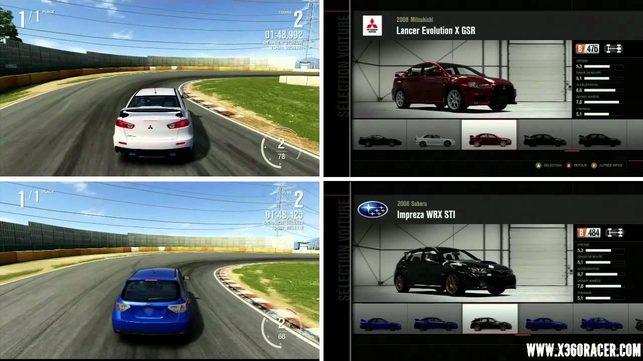 Forza Motorsport 4 Evo X Vs Sti 2008 Tsukuba Hd Youtube