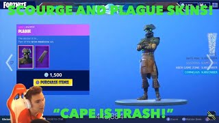 "STREAMERS REACT TO NEW ""PLAGUE"" AND ""SCOURGE"" SKINS! FORTNITE ITEM SHOP OCTOBER 11TH!"