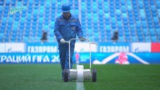Новый газон стадиона «Санкт-Петербург» // St Petersburg stadium new pitch
