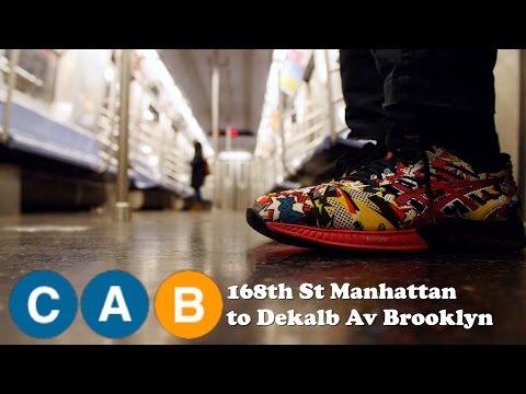 (C)(A)(B) 168th st to Dekalb Ave, Manhattan to Brooklyn