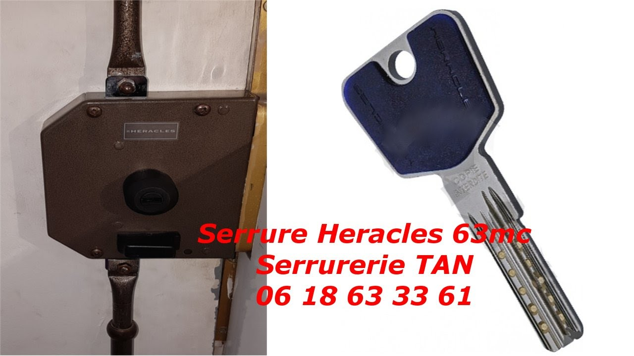 tuto comment changer une serrure heracles 63mc cylindre heracles y8 youtube. Black Bedroom Furniture Sets. Home Design Ideas