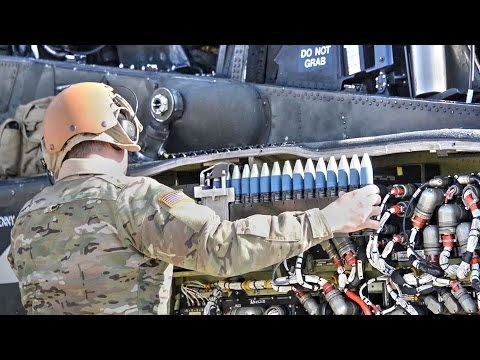 AH-64D Apache Longbow Attack Helicopter Weapons Loading