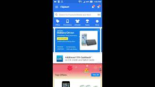 How to cancel an order on Flipkart android mobile app. [Hindi]
