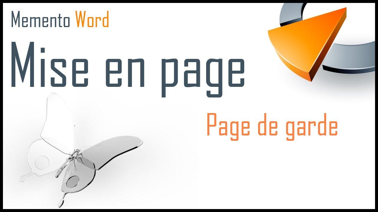 Page De Garde Dans Word Formation Word Marseille