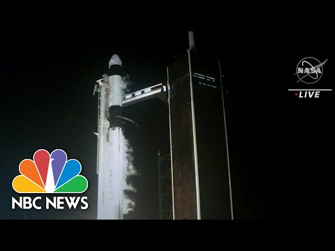 SpaceX Launches Astronauts To Space Station On Reused Rocket | NBC Nightly News