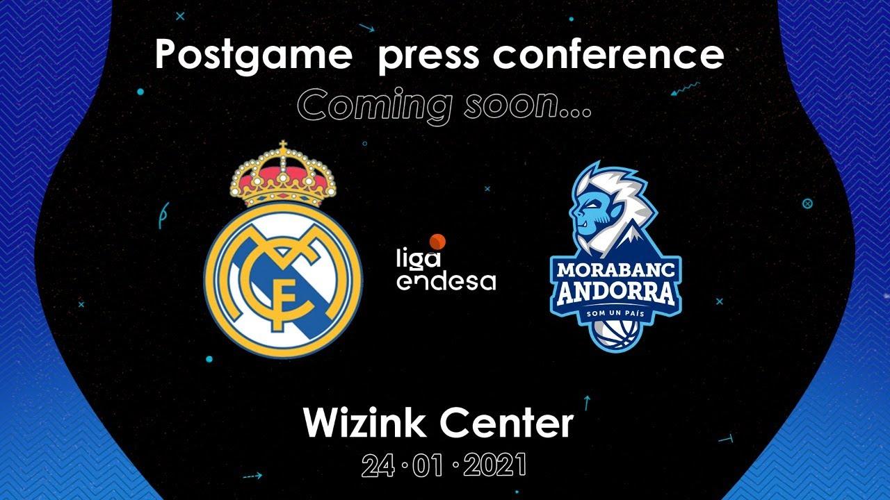 Rueda de prensa post-partido   Real Madrid - Morabanc Andorra
