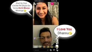 I LOVE YOU Dhanshree | Yuzi LIVE On Instagram! Yuzvendra Chahal Wife Dhanashree Verma