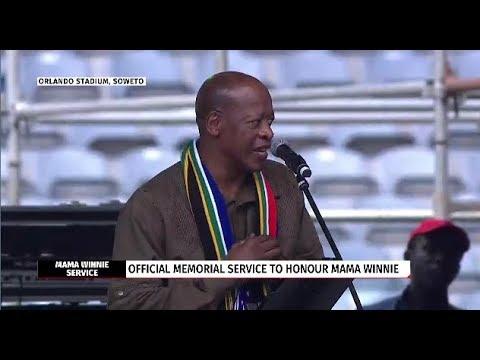 Mzwakhe Mbuli's poetic tribute to Winnie Mandela
