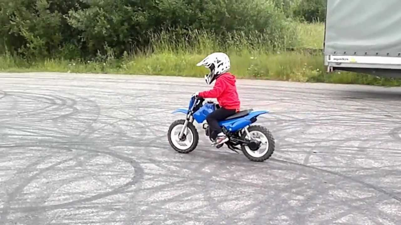Junior Four Years Old With Dirt Bike First Time Youtube