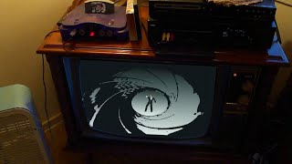 playing goldeneye 007 on nintendo 64 in 1997 with a box fan on