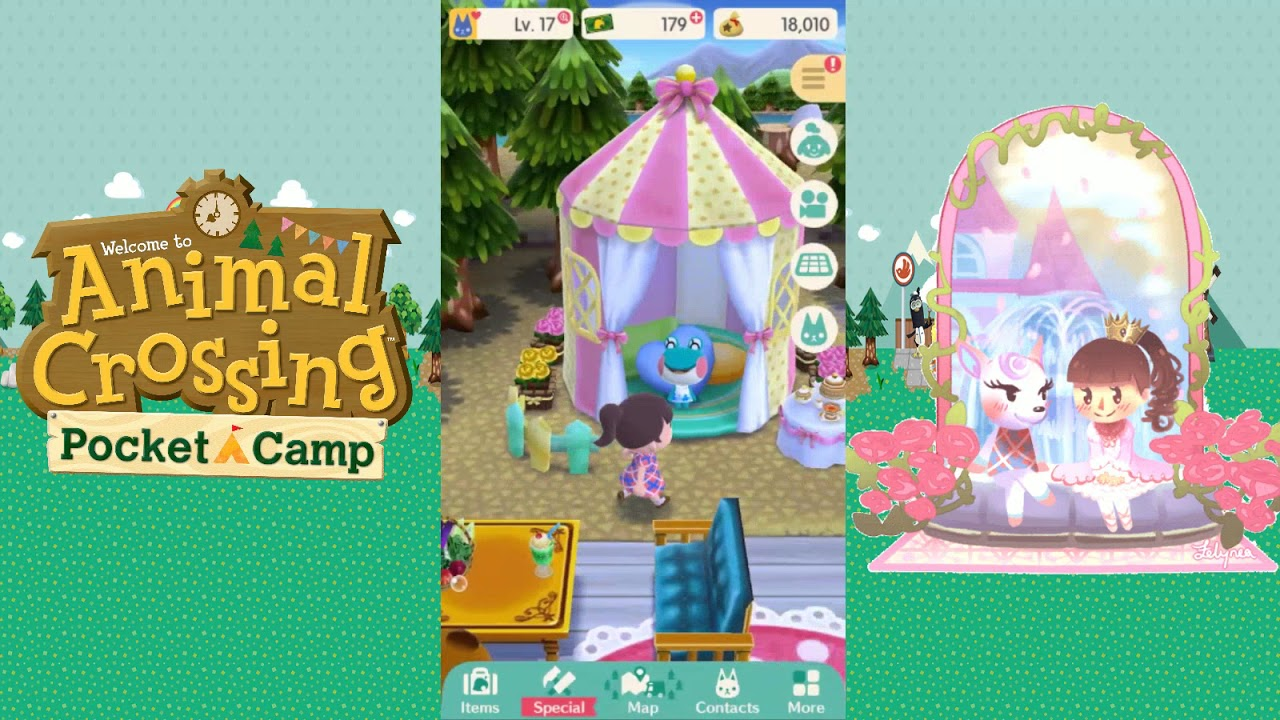 Animal Crossing Pocket C& - Level 3 Cute Tent~ & Animal Crossing: Pocket Camp - Level 3 Cute Tent~ - YouTube